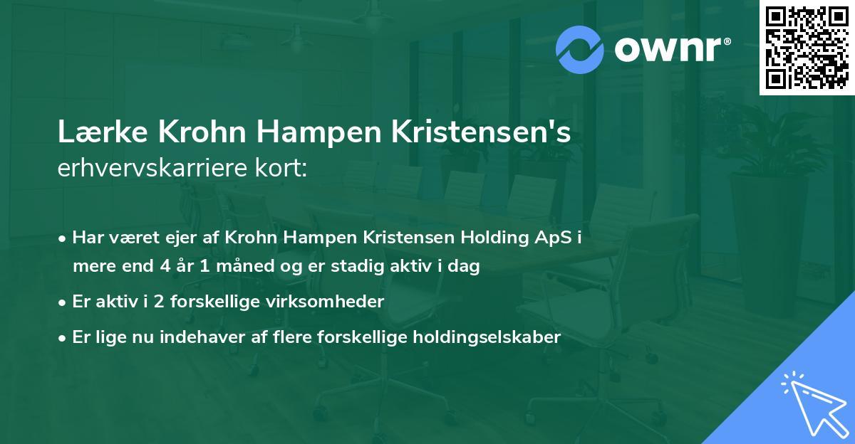 Lærke Krohn Hampen Kristensen's erhvervskarriere kort