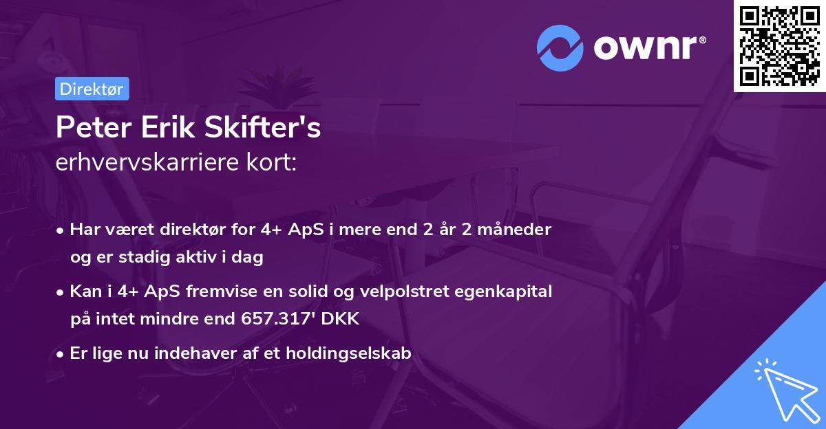Peter Erik Skifter's erhvervskarriere kort