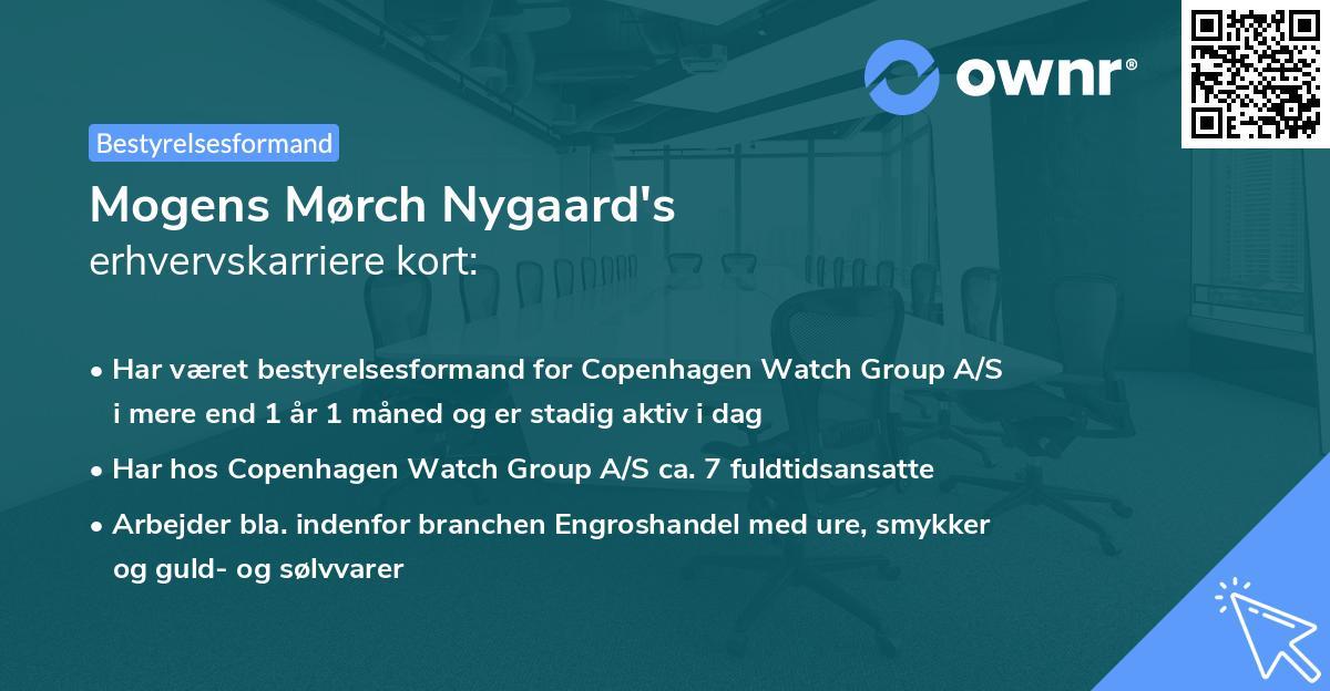 Mogens Mørch Nygaard's erhvervskarriere kort