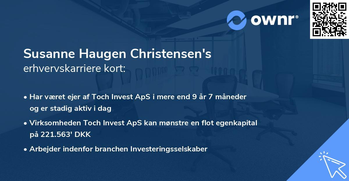 Susanne Haugen Christensen's erhvervskarriere kort