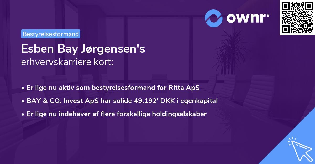Esben Bay Jørgensen's erhvervskarriere kort