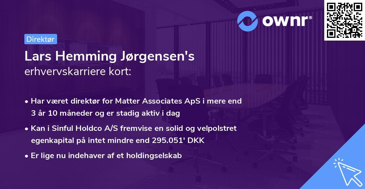 Lars Hemming Jørgensen's erhvervskarriere kort