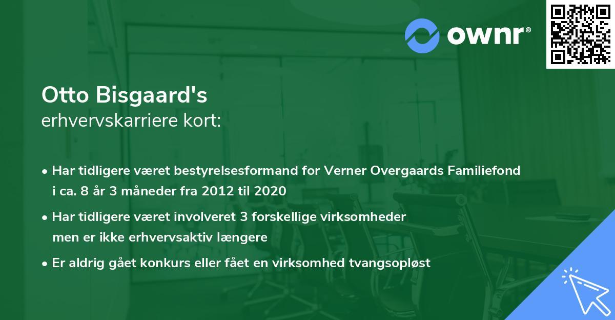 Otto Bisgaard's erhvervskarriere kort