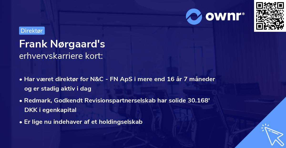 Frank Nørgaard's erhvervskarriere kort