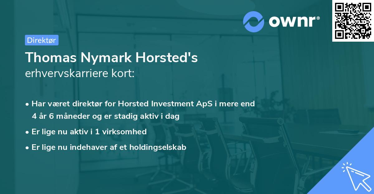 Thomas Nymark Horsted's erhvervskarriere kort