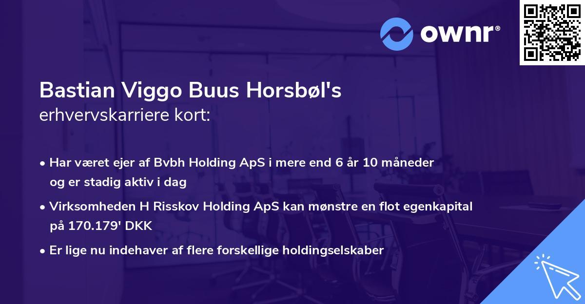 Bastian Viggo Buus Horsbøl's erhvervskarriere kort