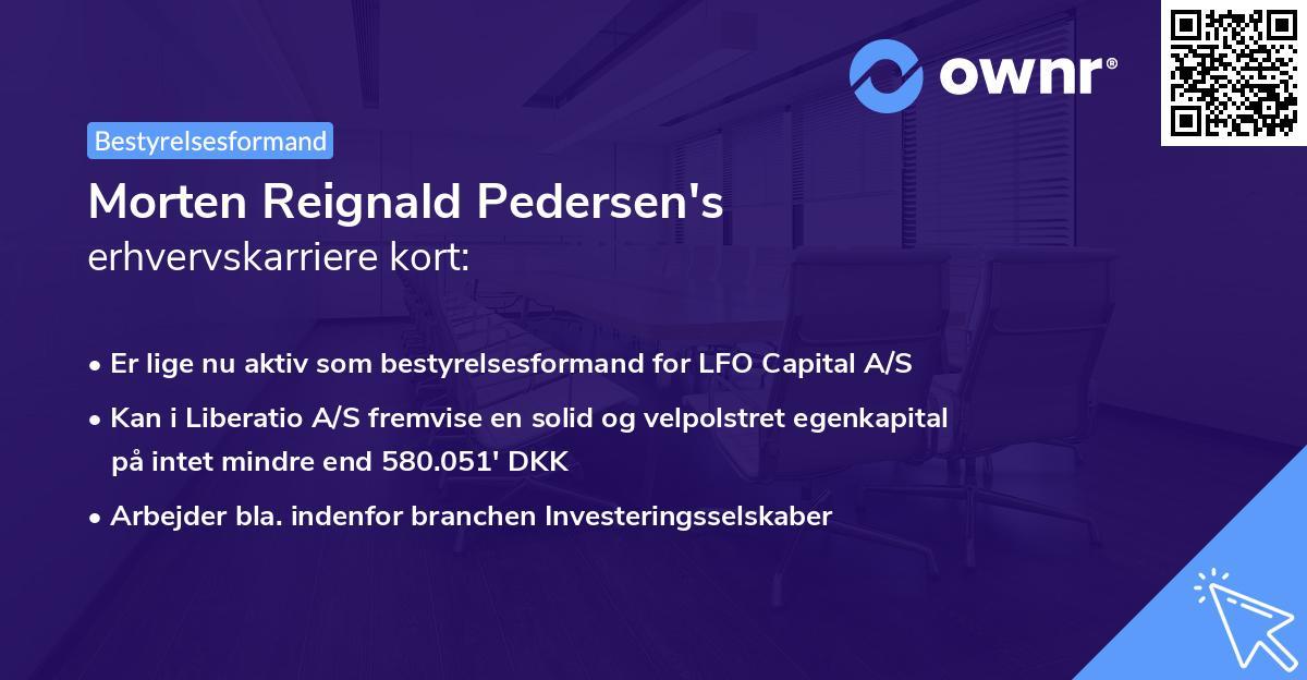 Morten Reignald Pedersen's erhvervskarriere kort