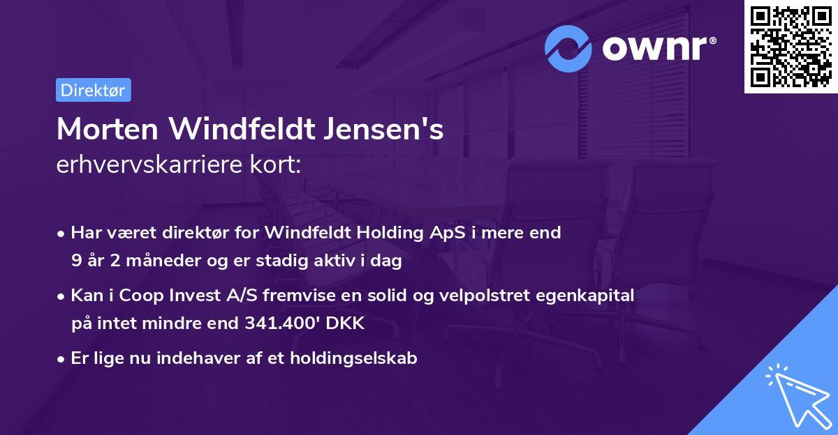 Morten Windfeldt Jensen's erhvervskarriere kort