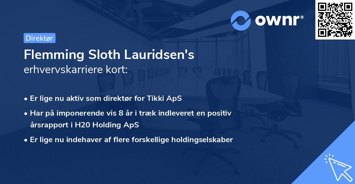 Flemming Sloth Lauridsen's erhvervskarriere kort