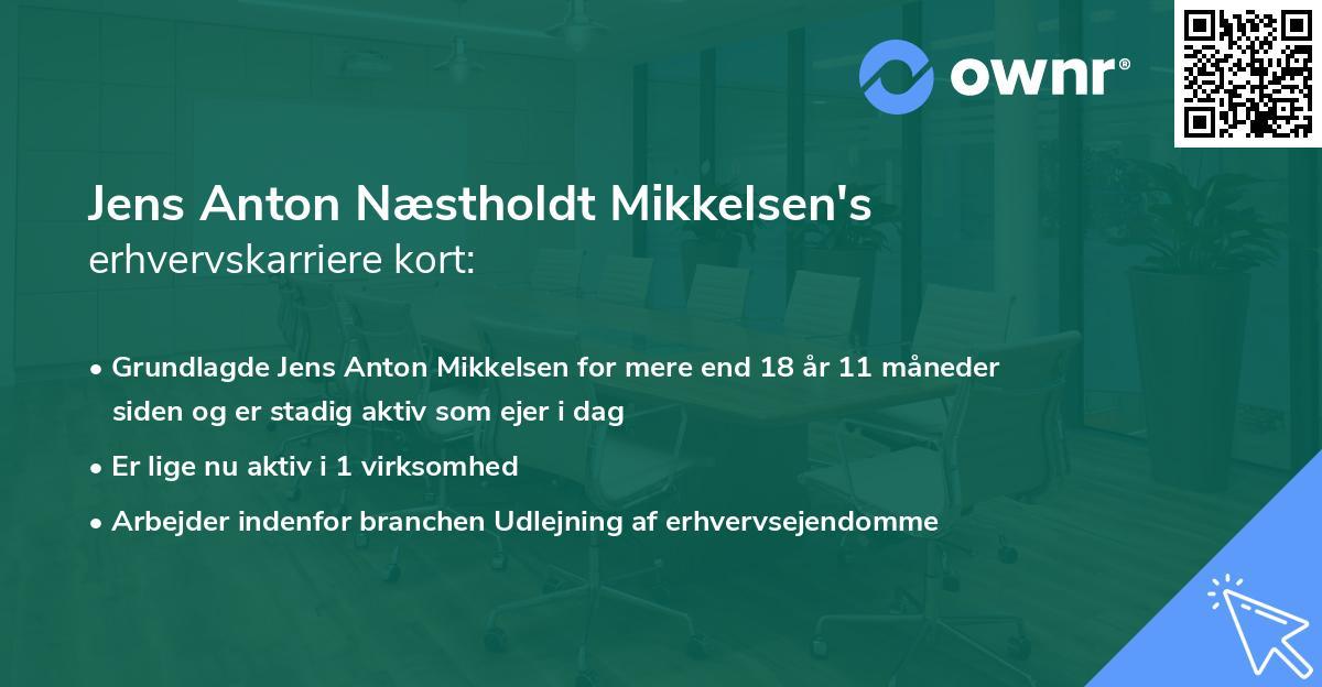 Jens Anton Næstholdt Mikkelsen's erhvervskarriere kort