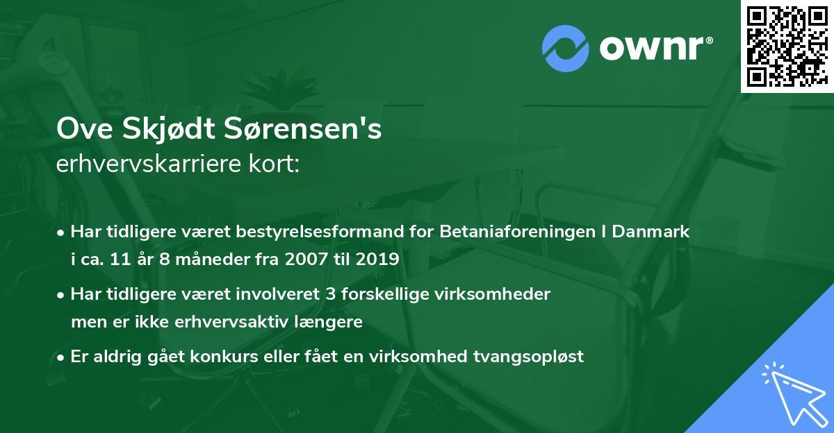 Ove Skjødt Sørensen's erhvervskarriere kort