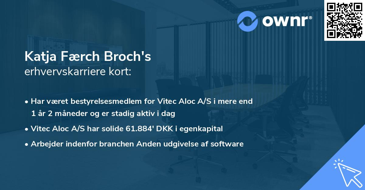 Katja Færch Broch's erhvervskarriere kort