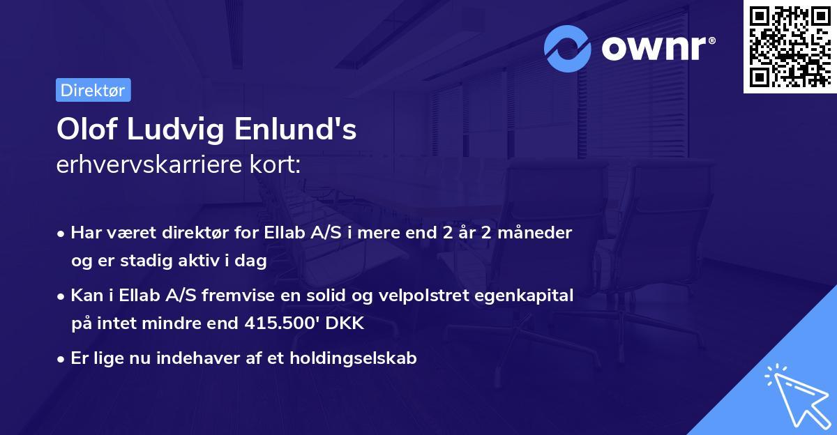Olof Ludvig Enlund's erhvervskarriere kort