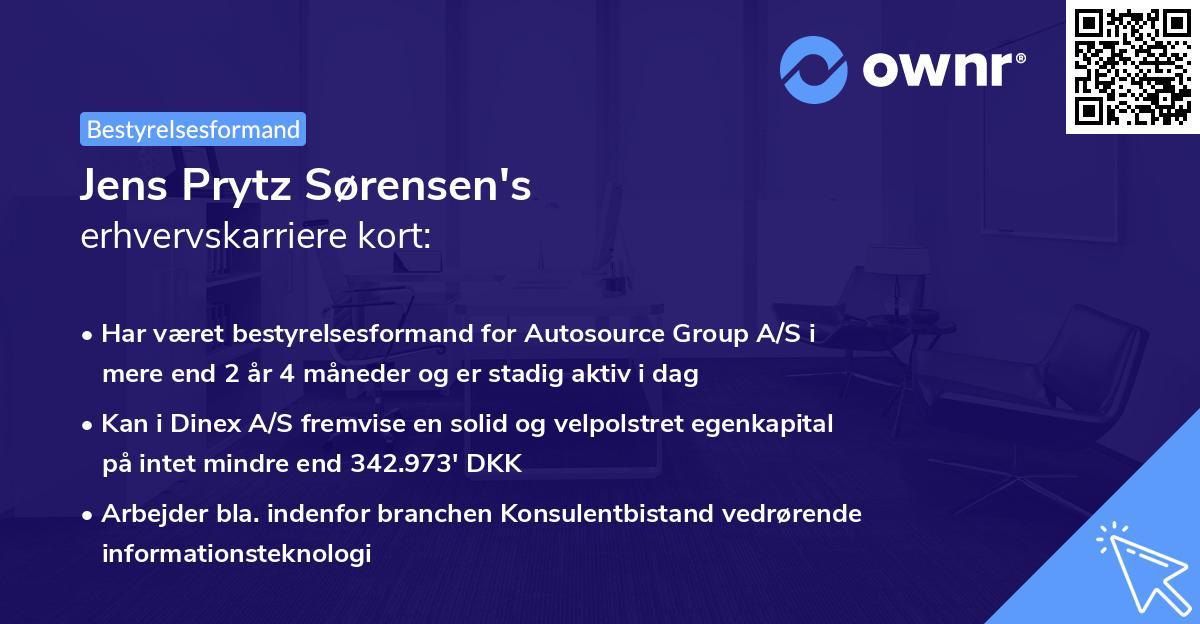 Jens Prytz Sørensen's erhvervskarriere kort
