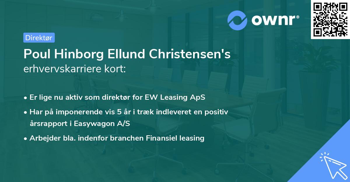 Poul Hinborg Ellund Christensen's erhvervskarriere kort