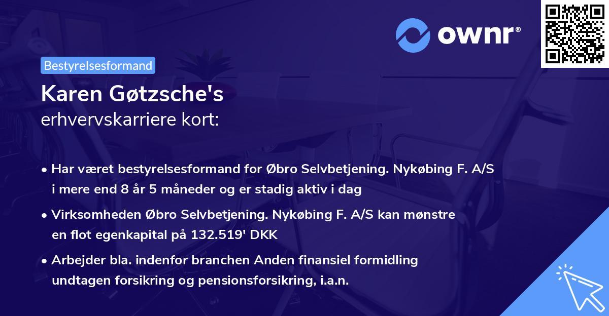Karen Gøtzsche's erhvervskarriere kort