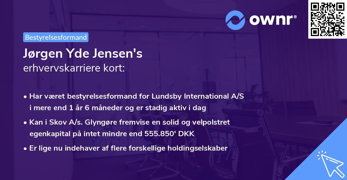 Jørgen Yde Jensen's erhvervskarriere kort