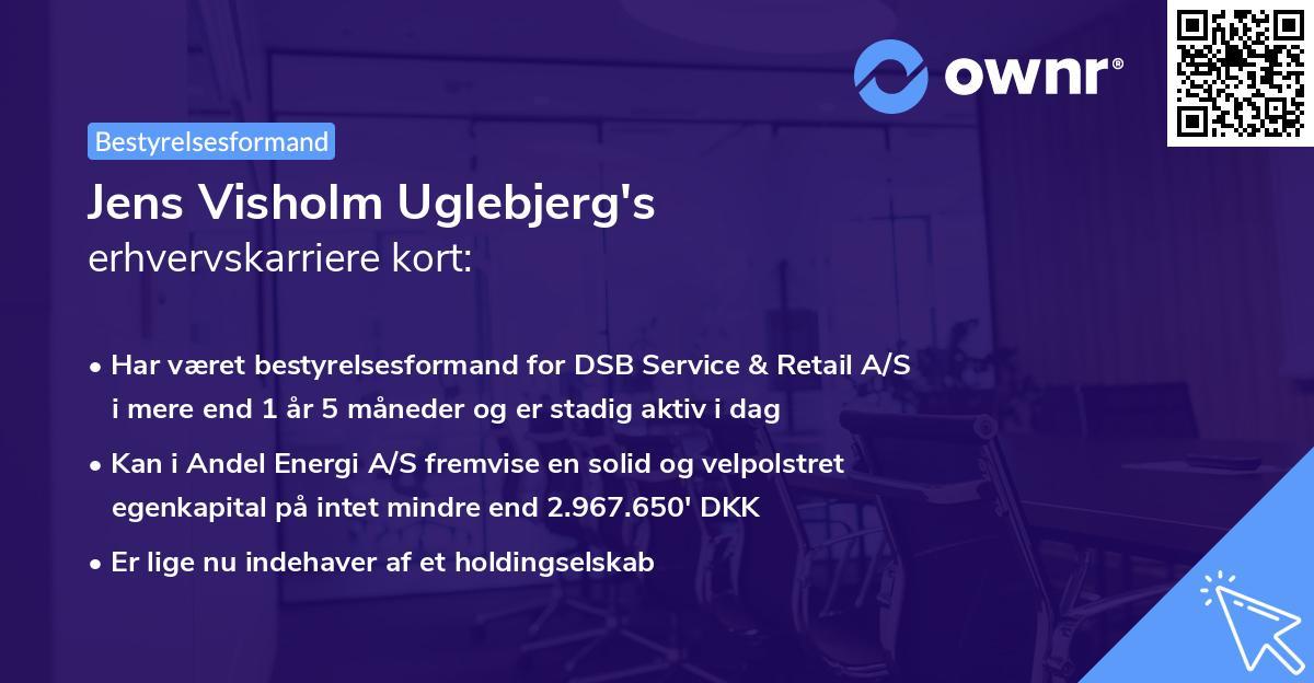 Jens Visholm Uglebjerg's erhvervskarriere kort