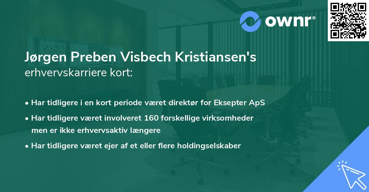 Jørgen Preben Visbech Kristiansen's erhvervskarriere kort
