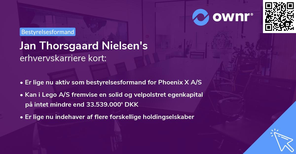 Jan Thorsgaard Nielsen's erhvervskarriere kort