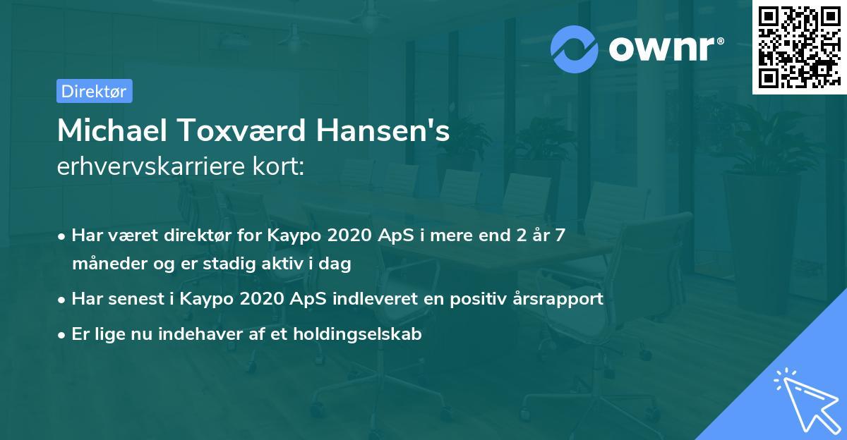 Michael Toxværd Hansen's erhvervskarriere kort