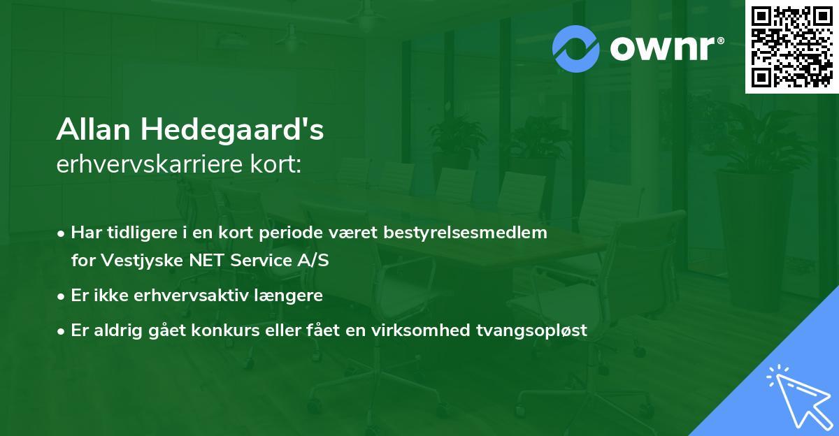 Allan Hedegaard's erhvervskarriere kort