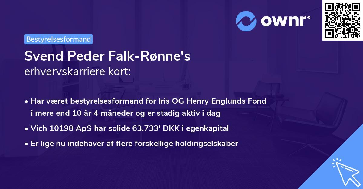 Svend Peder Falk-Rønne's erhvervskarriere kort
