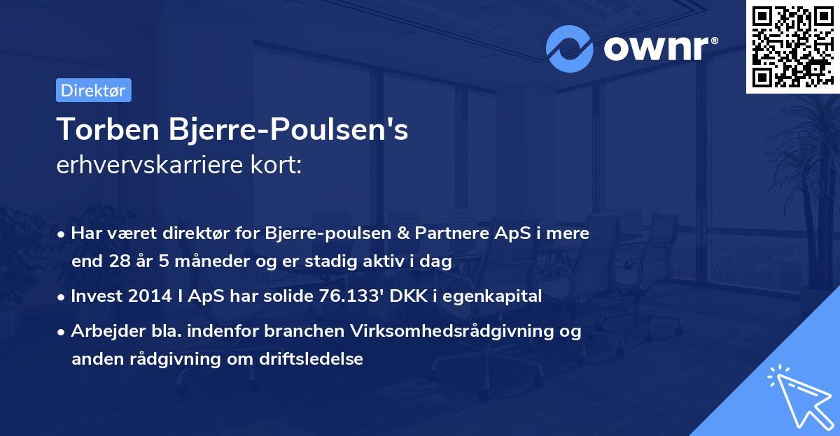 Torben Bjerre-Poulsen's erhvervskarriere kort