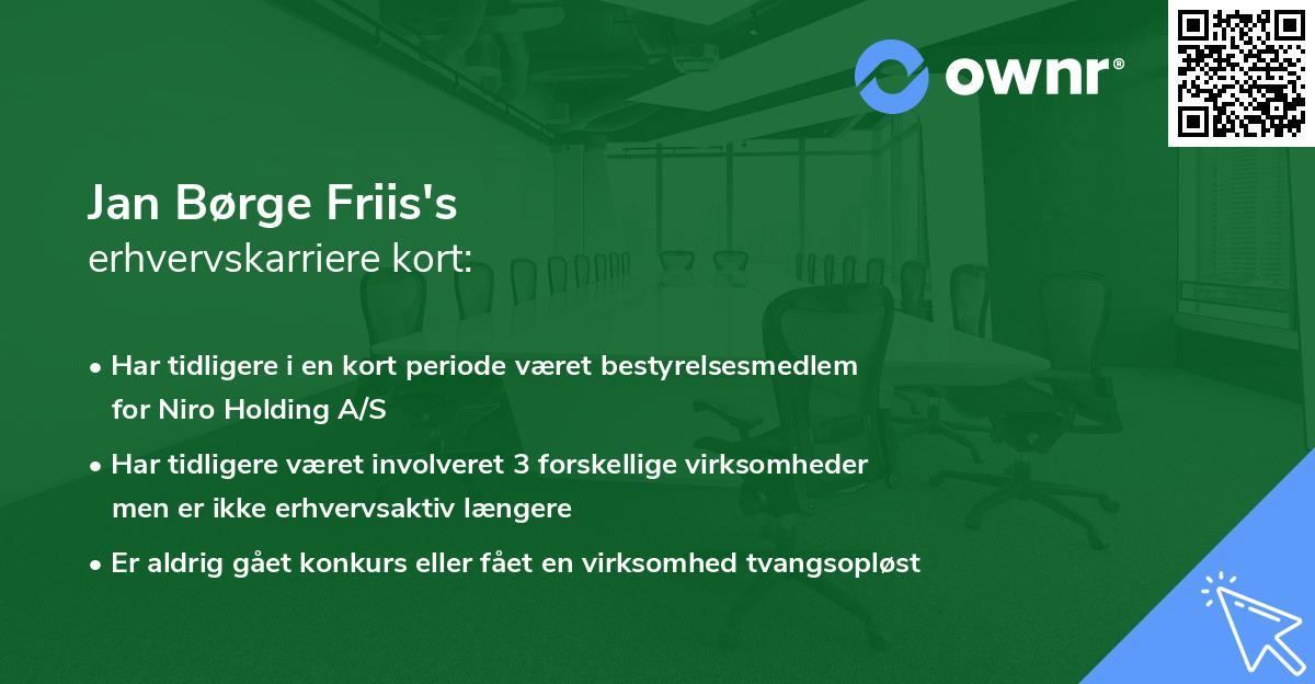 Jan Børge Friis's erhvervskarriere kort