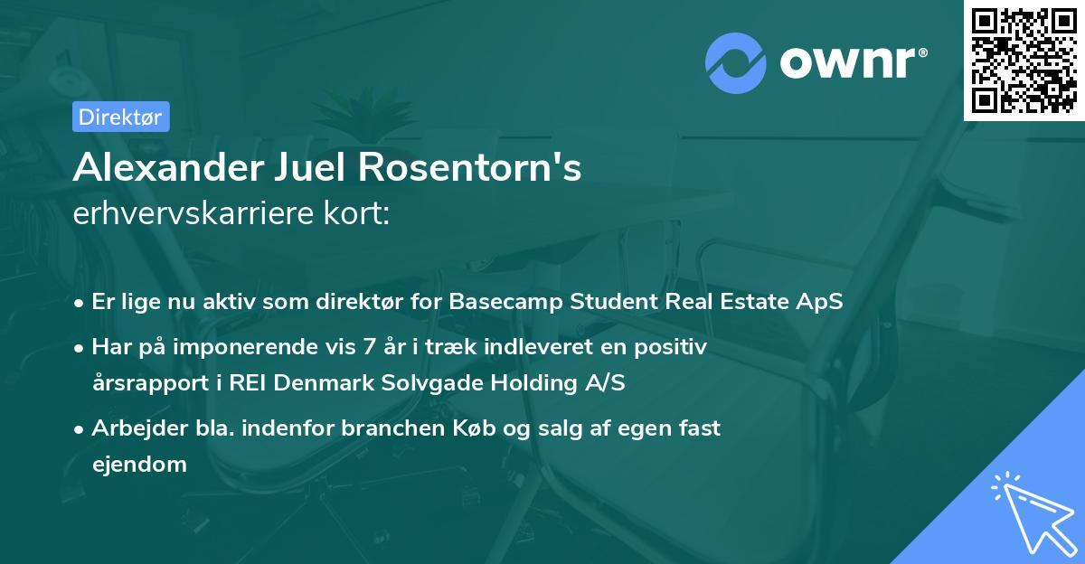 Alexander Juel Rosentorn's erhvervskarriere kort