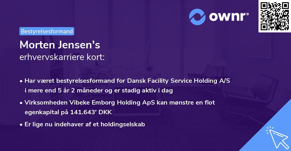 Morten Jensen's erhvervskarriere kort