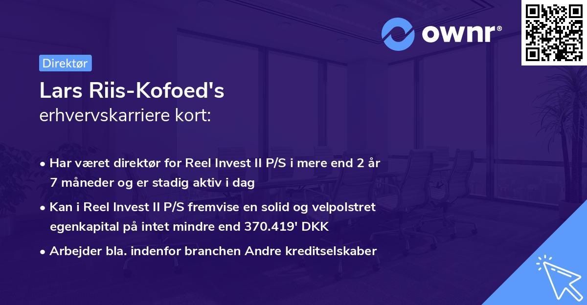 Lars Riis-Kofoed's erhvervskarriere kort
