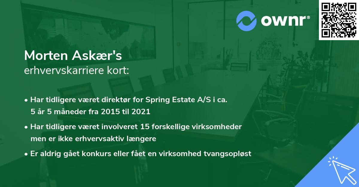Morten Askær's erhvervskarriere kort