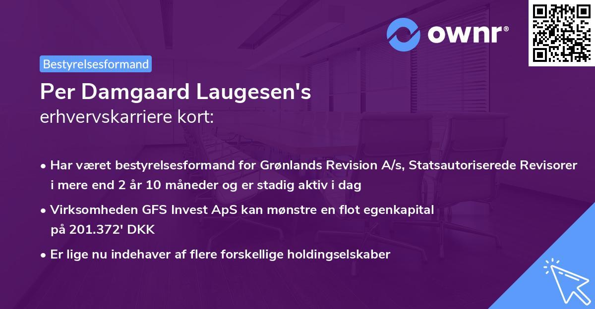 Per Damgaard Laugesen's erhvervskarriere kort