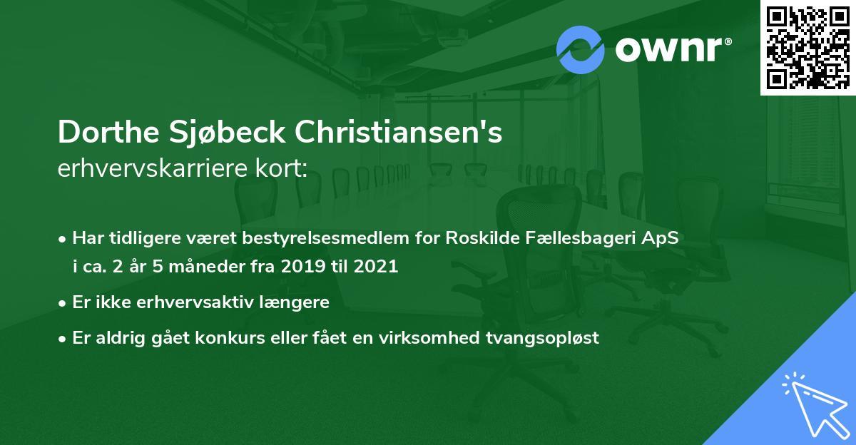 Dorthe Sjøbeck Christiansen's erhvervskarriere kort