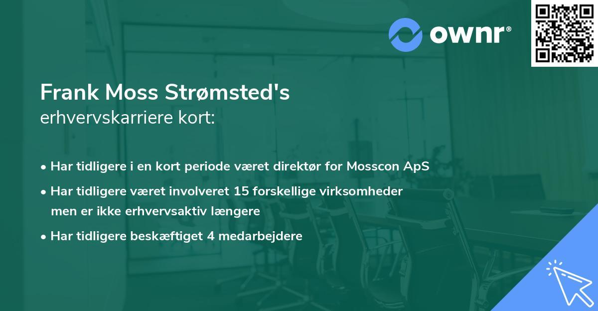 Frank Moss Strømsted's erhvervskarriere kort