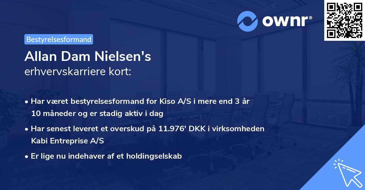 Allan Dam Nielsen's erhvervskarriere kort