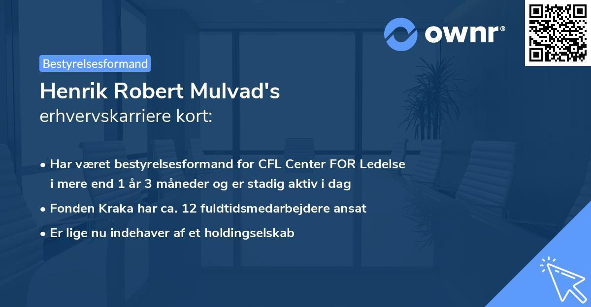 Henrik Robert Mulvad's erhvervskarriere kort