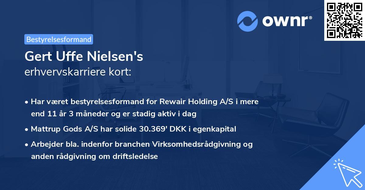 Gert Uffe Nielsen's erhvervskarriere kort