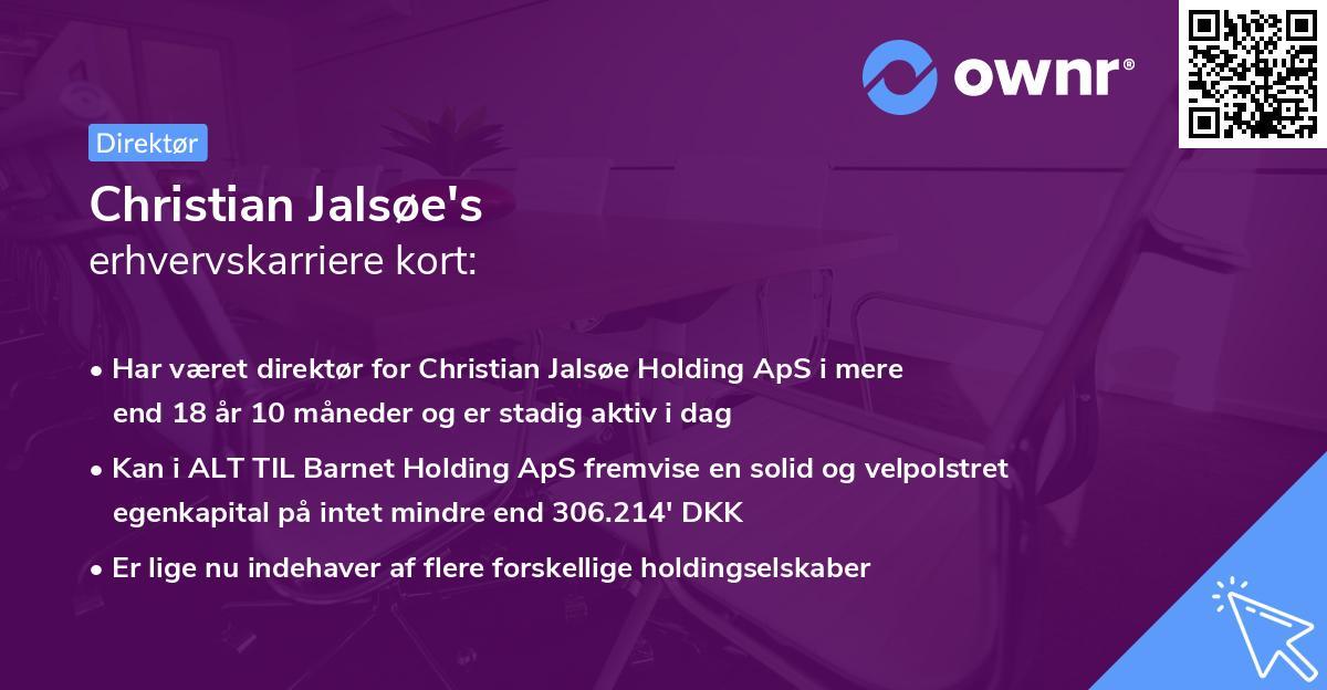 Christian Jalsøe's erhvervskarriere kort