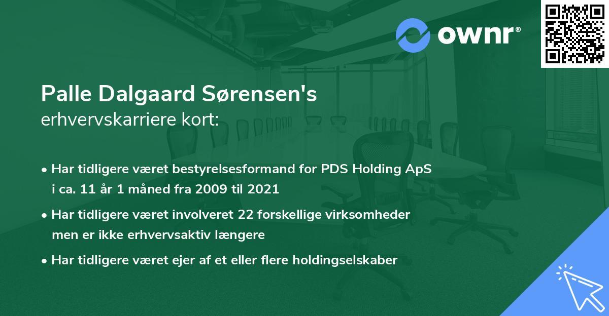 Palle Dalgaard Sørensen's erhvervskarriere kort