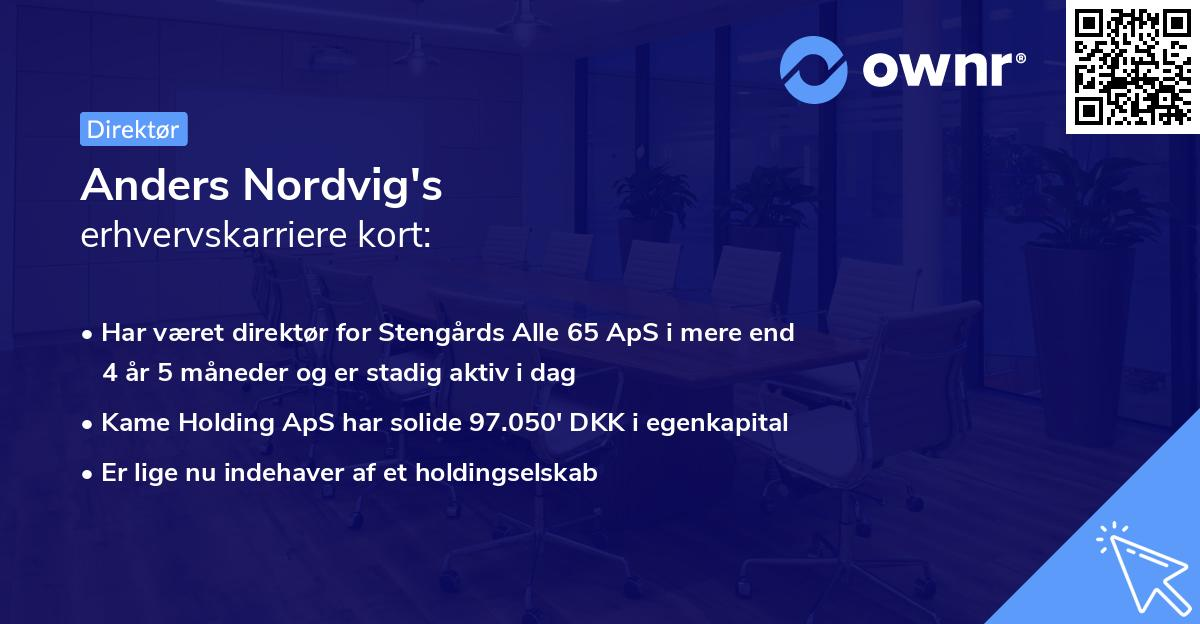 Anders Nordvig's erhvervskarriere kort
