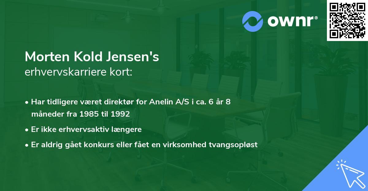 Morten Kold Jensen's erhvervskarriere kort