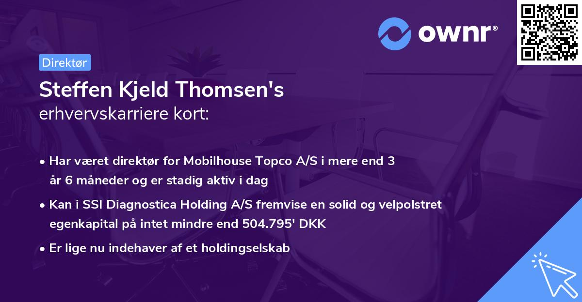 Steffen Kjeld Thomsen's erhvervskarriere kort