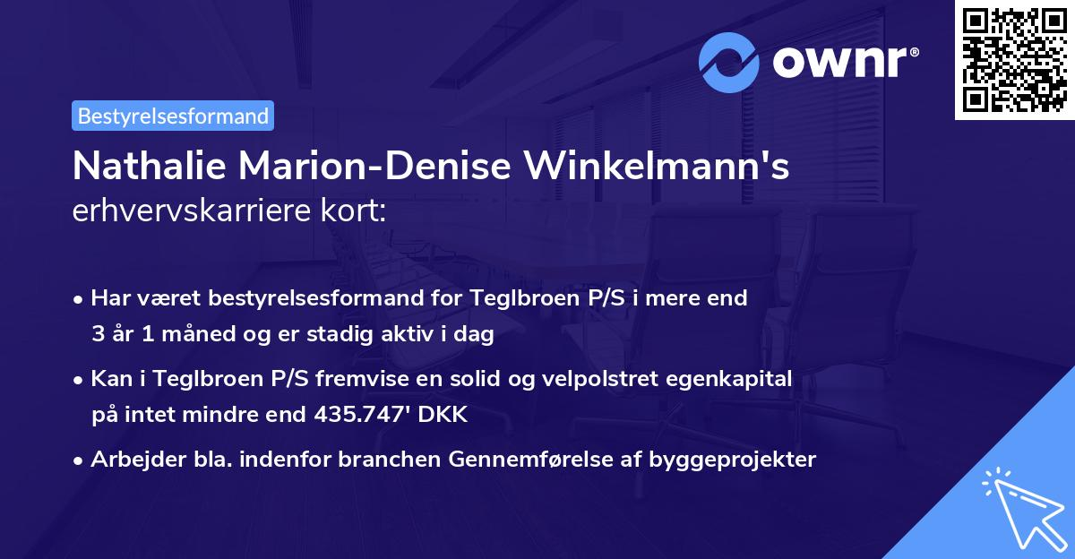Nathalie Marion-Denise Winkelmann's erhvervskarriere kort