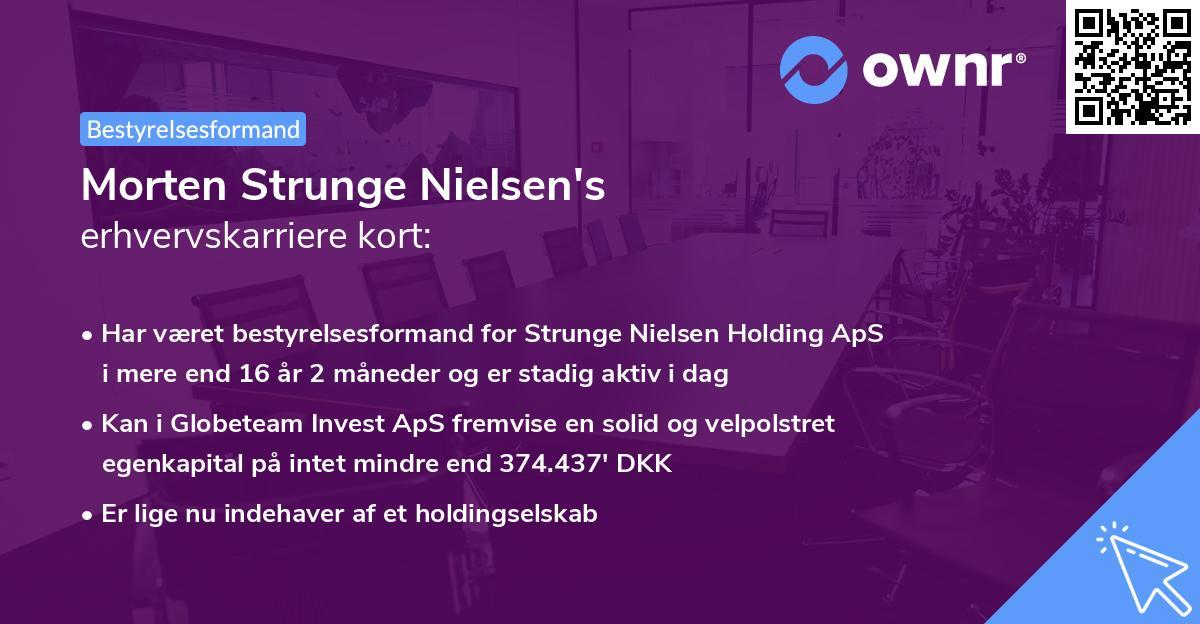 Morten Strunge Nielsen's erhvervskarriere kort