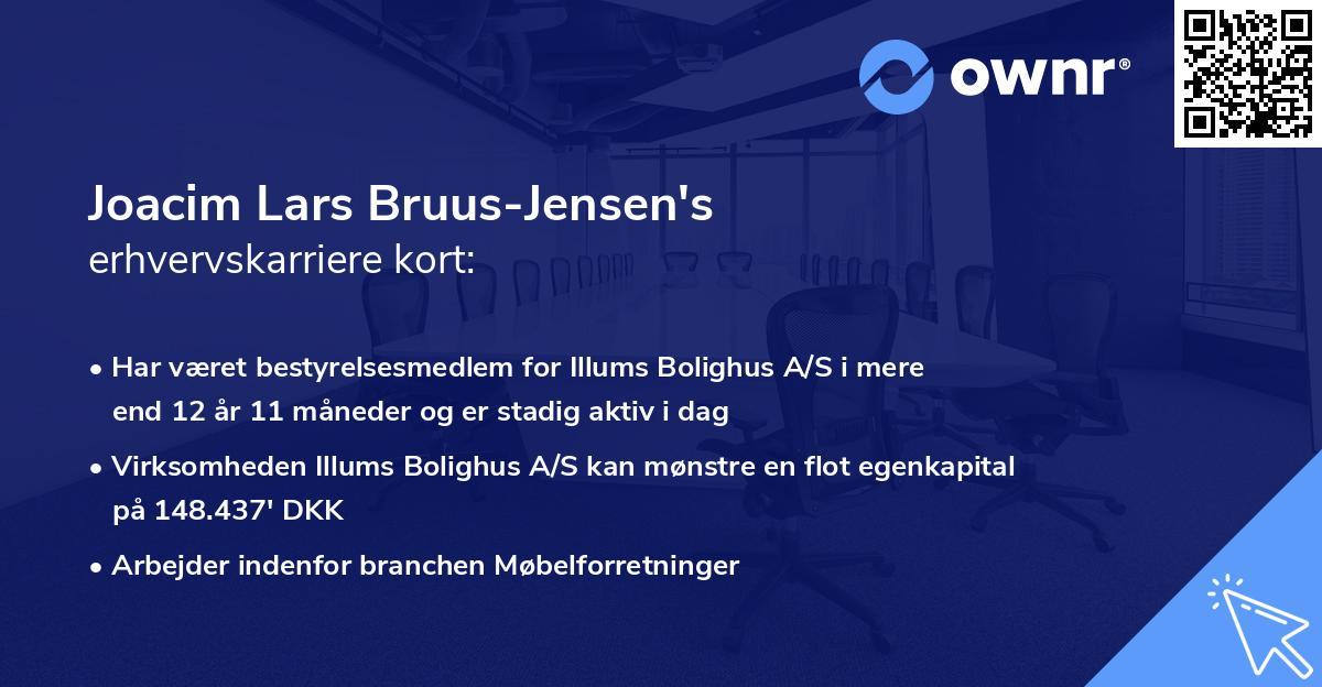 Joacim Lars Bruus-Jensen's erhvervskarriere kort
