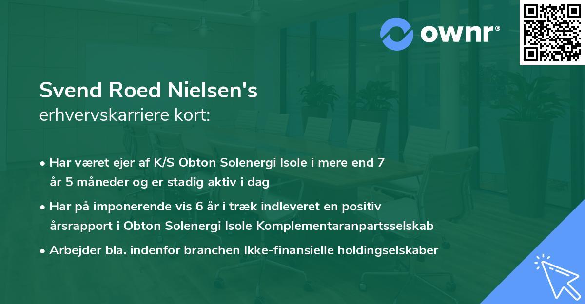 Svend Roed Nielsen's erhvervskarriere kort