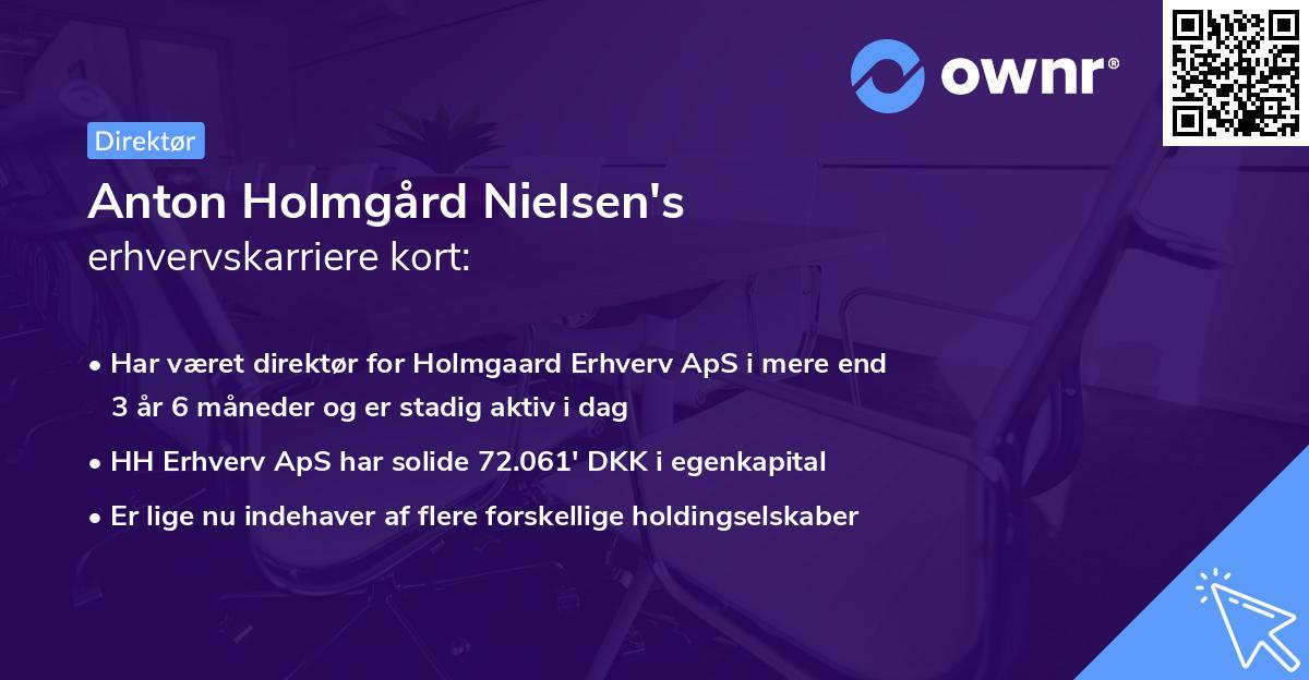 Anton Holmgård Nielsen's erhvervskarriere kort