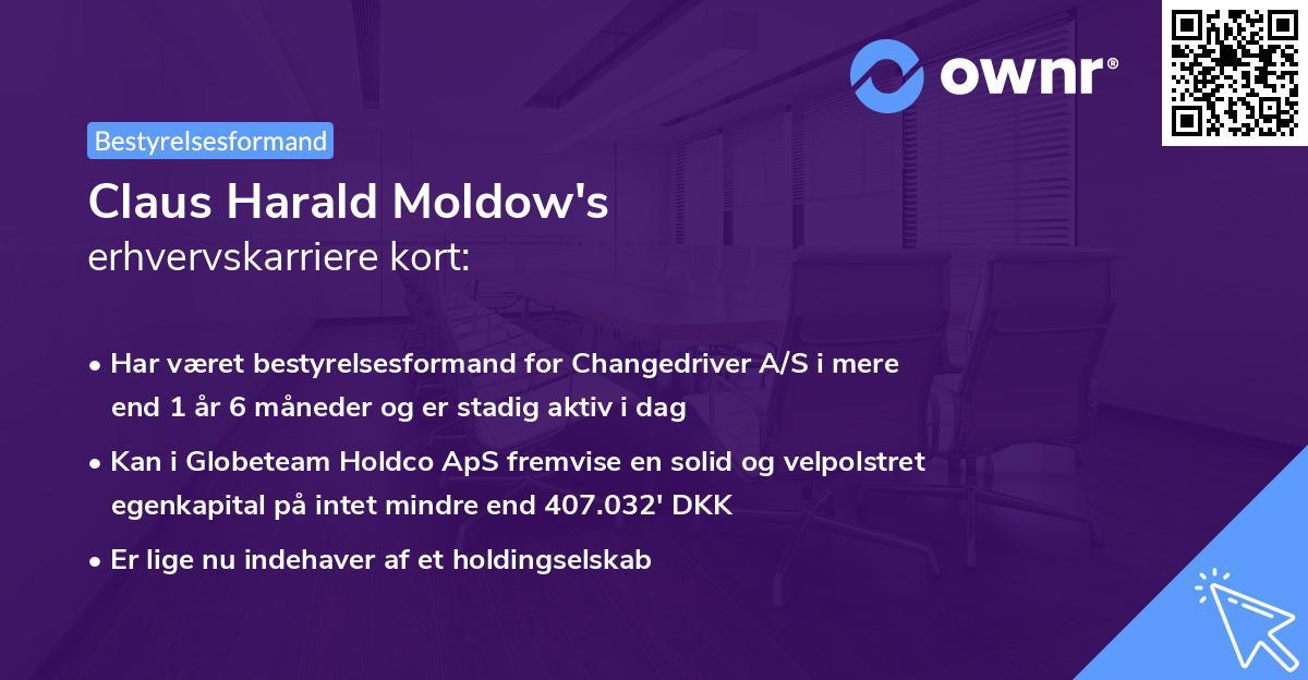 Claus Harald Moldow's erhvervskarriere kort